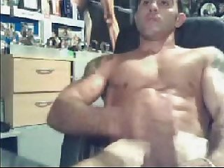 hot boy masturbates on webcam