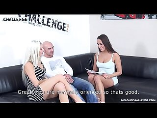 Big muscle dude cum in Mea Melone's mouth & Blanche Bradburry watch it