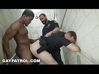 GAY PATROL - Fucking the white police with some chocolate dick