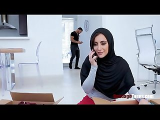 SISTER in HIJAB screwed by BROTHER- BONDAGE