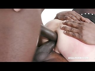 Interracial XXXtreme double pussy penetration & ass fisting with Sindy Rose