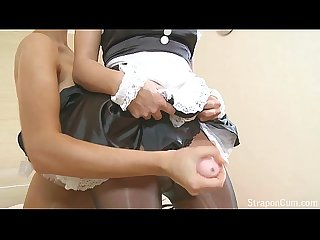 StraponCum: Strapon French Maid