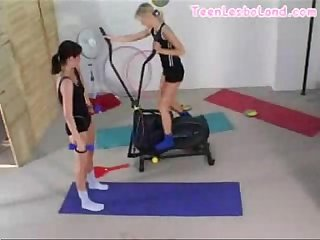 Teen Lesbians At The Gym