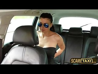 Smoking hot busty Scarlet gets changed and scammed in the taxi
