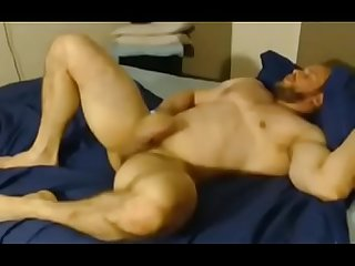 Hot muscle men solo huge orgasm and eat cum