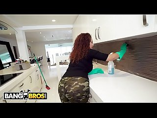 BANGBROS - Thicc Dominican Maid Samantha Rose Takes Big Dick
