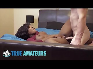 Thicc amateur ebony babe works white cock- Trueamateurs