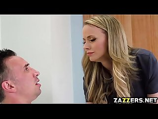 Nurse Jane Douxxx blowjob Keiran Lees big cock