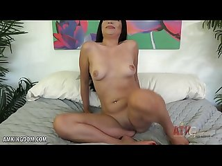 Karmen Santana shows off her juicy pussy lips