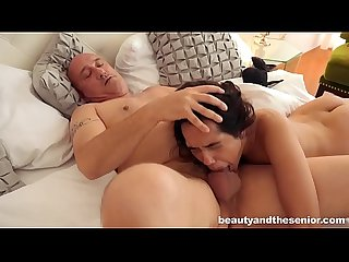 Old man Bruno fucks young pornstar Esperanza del Bruno