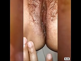 House wife oily pussy massage